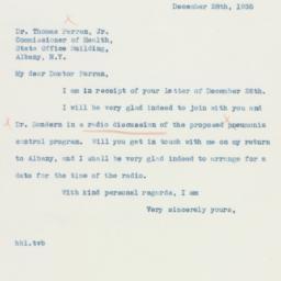 Letter : 1935 December 28