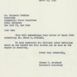 Letter : 1951 March 19