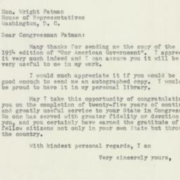 Letter : 1954 March 12