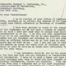 Letter : 1932 September 30
