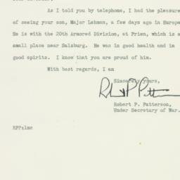 Letter : 1945 May 19