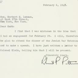 Letter : 1948 February 6