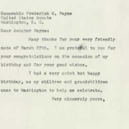 Letter : 1954 March 31