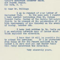Letter : 1942 September 23