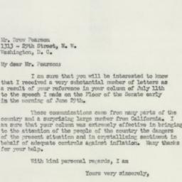 Letter : 1951 July 18