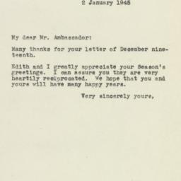 Letter : 1945 January 2