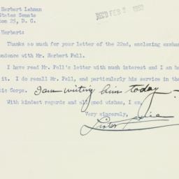 Letter : 1953 January 28