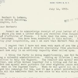 Letter : 1955 July 12