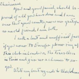 Letter : 1957 January 29