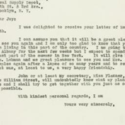 Letter : 1930 May 20