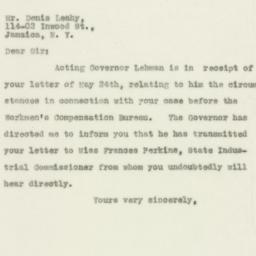 Letter: 1930 May 28