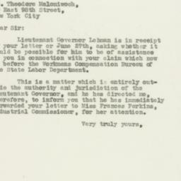 Letter : 1931 June 29