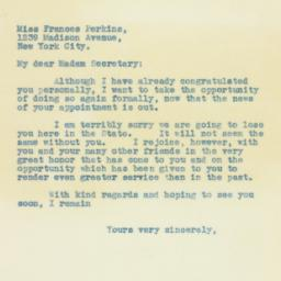 Letter: 1933 March 2