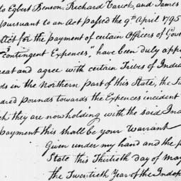 Document, 1796 May 30