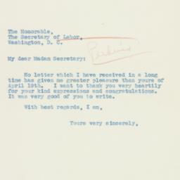 Letter: 1935 April 30