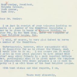 Letter: 1936 September 9