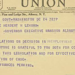 Telegram: 1936 November 24