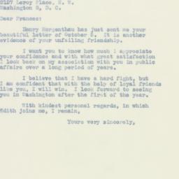 Letter: 1949 October 10