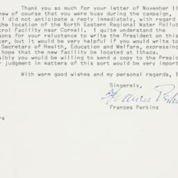 Letter: 1961 November 22