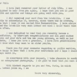 Letter : 1956 July 21