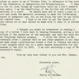 Letter : 1952 November 3