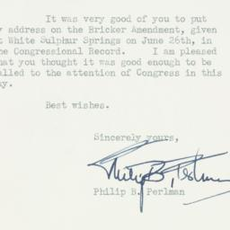 Letter : 1953 July 7