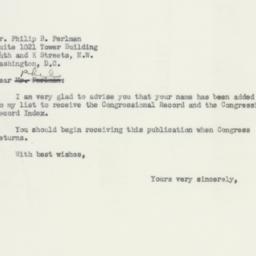 Letter : 1953 December 29