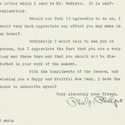 Letter : 1949 December 28