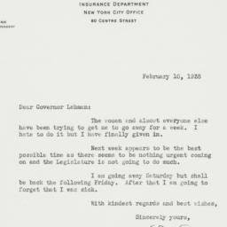 Letter : 1938 February 10