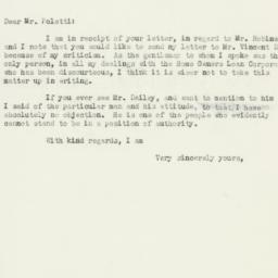 Letter: 1934 December 13