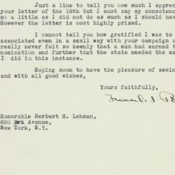 Letter : 1932 November 21
