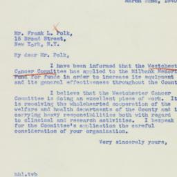 Letter : 1940 March 22