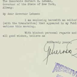 Letter : 1936 October 1