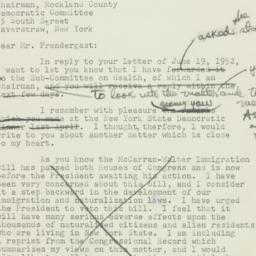 Letter: 1952 June 20