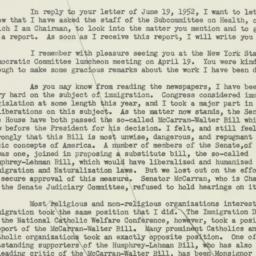 Letter : 1952 June 21