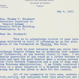 Letter: 1955 May 4