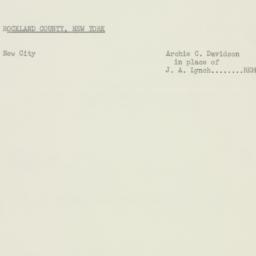 Memorandum : 1956 February 10