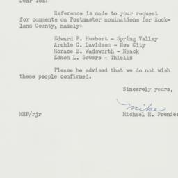 Letter : 1956 July 6