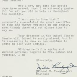 Letter : 1956 November 14
