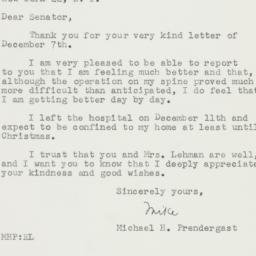 Letter : 1957 December 16