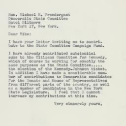 Letter: 1960 October 25