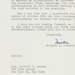 Letter : 1960 October 28