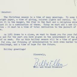 Letter : 1961 December 20