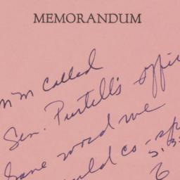 Memorandum : 1956 April 25