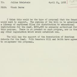 Memorandum : 1956 April 24