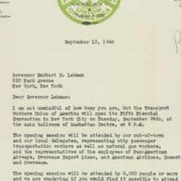Letter : 1946 September 13