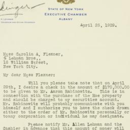 Letter : 1929 April 25
