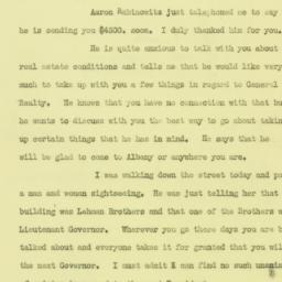 Letter : 1932 July 12