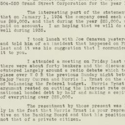 Letter : 1935 January 29