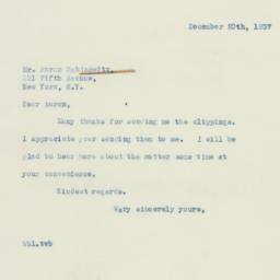 Letter : 1937 December 20
